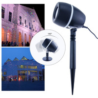 Stars Laser Projector Lamp Outdoor LED Flood Light With Remote Control Red Green Blue Showers Light