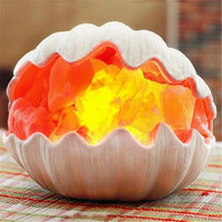 Sea Shell Crafted Himalayan Natural Crystal Salt Lamp 220V Exquisite Gift