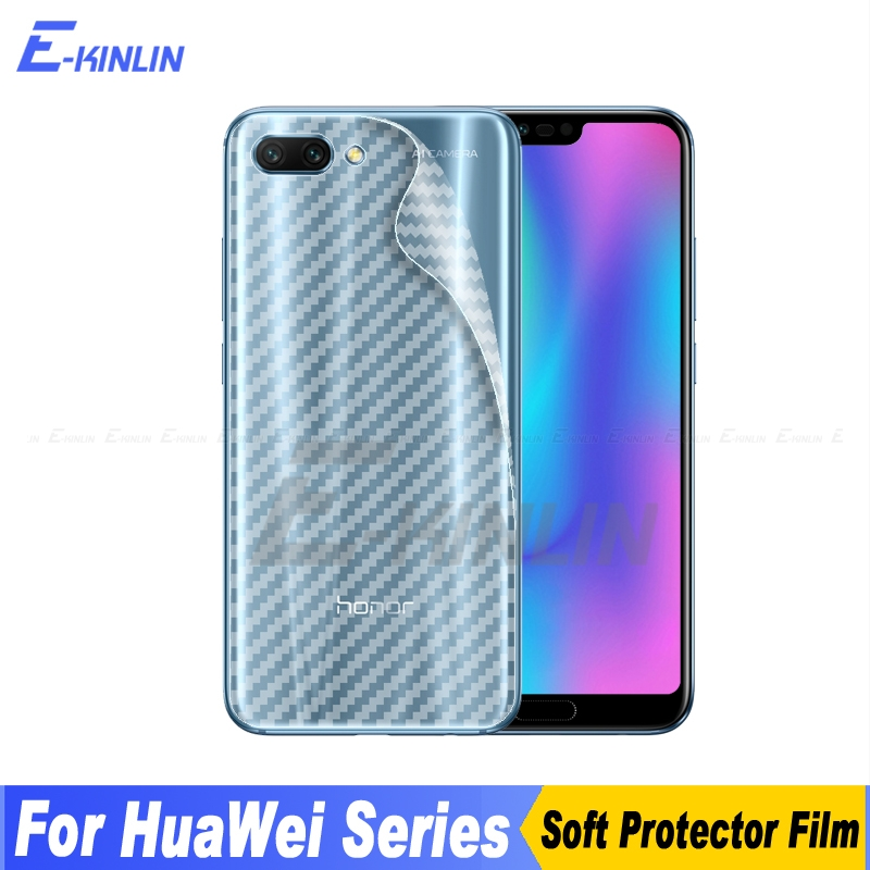 3D Carbon Fiber Back Cover Screen Protector For HuaWei Honor 10 9i 9 7C 7X 8 Lite Pro Pl ...