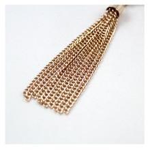 Molten Oval Tassel Necklace