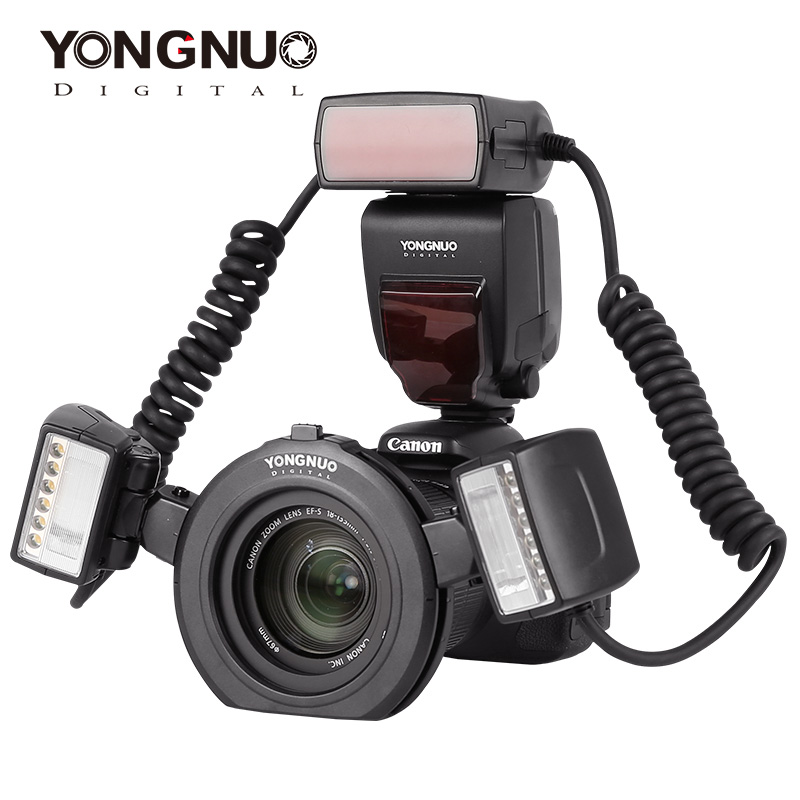 Yongnuo YN24EX макро фотовспышка с двойной головкой вспышка для камер canon для макросъемки ttl speedlite Кольцевая вспышка