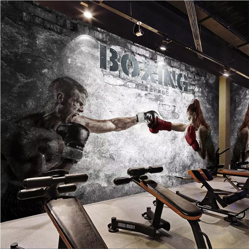 Beibehang Custom Photo Wallpaper Wall Painting Beauty Wallpaper Living Room Wallpaper Gym Boxing Wallpaper Home Decoration