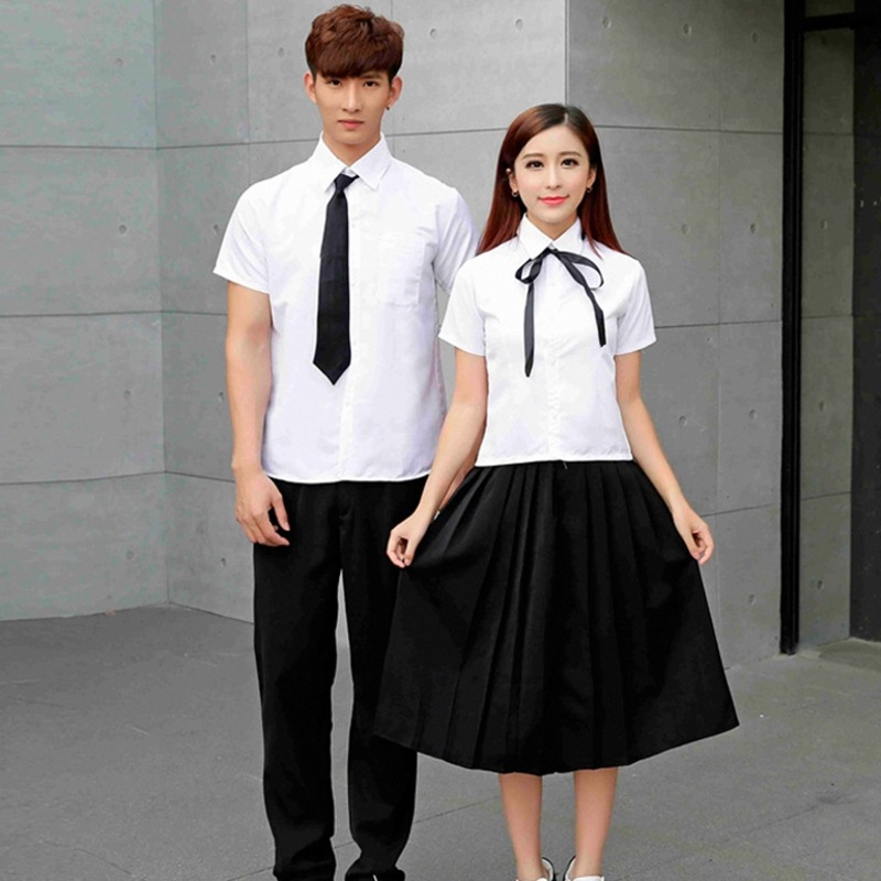 Girls Japanese School Uniform Male Female Summer School Wear Students Short Sleeved Couple Costumes School Uniform  D-0202