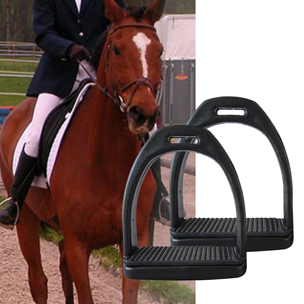 2PCS Anti Slip Adults Children Comfortable Equipment Wide Track Equestrian Lightweight Durable Outdoor Horse Riding Stirrups