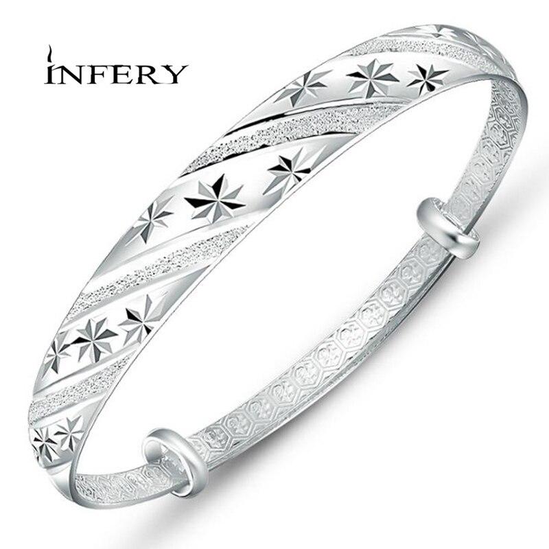Jewelry & Accessories Bangles Flight Tracker Infery Fashion Silver Jewelry Meteor Shower Sliding Female Models Fine Bracelet Wholesale Female Fashion Jewelry 1y315