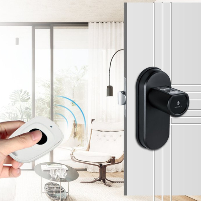 L6SRB Security Electronic Door Lock, Smart Home Keyless App Bluetooth Fingerprint Remote Cylinder Door Lock