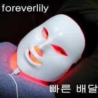 foreverlily Korean 7 colors LED Facial Mask face mask Skin Care beauty Mask Photon Therapy Light Skin Rejuvenation Facial PDT