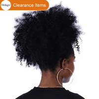 Afro Kinky Curly Ponytail For Women Natural Black Remy Hair 1 Piece Clip In Ponytails Drawstring 100% Human Hair Dolago Products