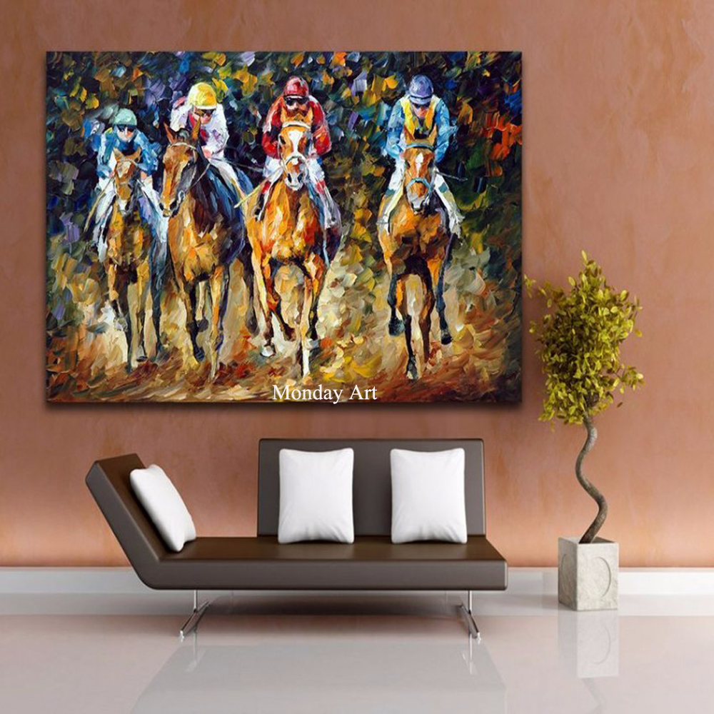 Horse-Racing-Exciting-Sports-Palette-Knife-Painting-Canvas-Picture-for-Living-Room-Bedroom-Office-Wall-Decoration (3)