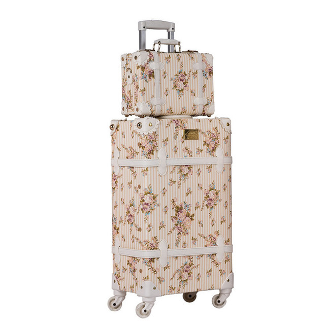 Vintage Floral Patterned Luggage
