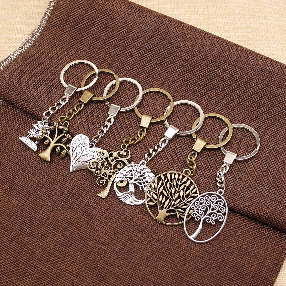 Tree Of Life Keychain Tree Life Pendant Key Chain Women Key Rings Men's Chain