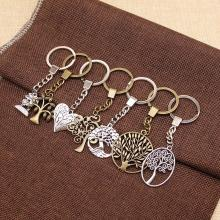 Tree Of Life Keychain Pendant Key Chain Women Rings Mens