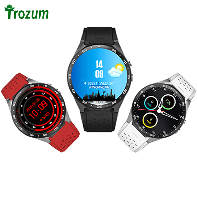 KW88 Smart Watch Android 5.1 IOS 1.39 IPS OLED Screen 512MB+4GB Smartwatch Support SIM Card GPS WiFi Call Reminder Heart Rate
