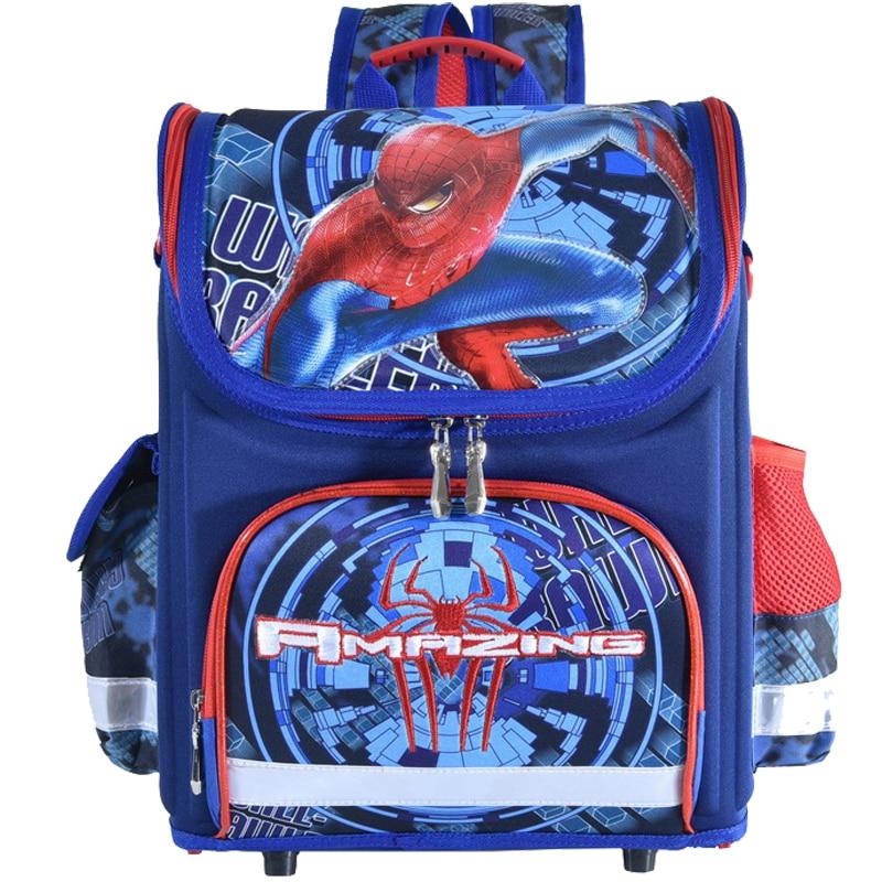 New spiderman School Bag Orthopedic cars Children School Bags Backpack Kids school Backpack Mochila Infantil for boys