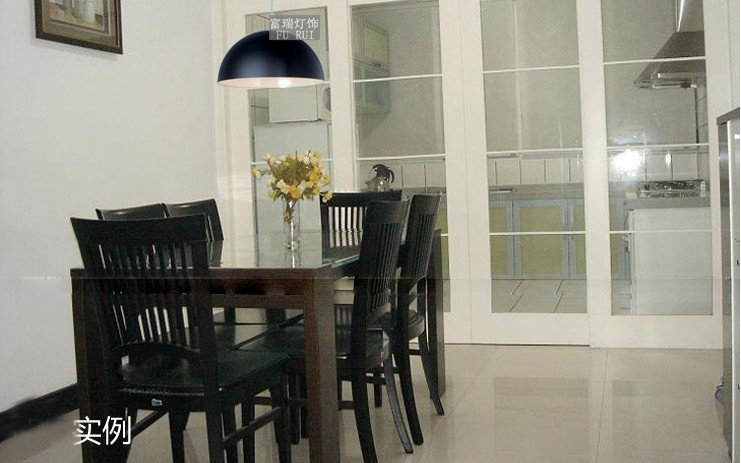 ФОТО NEW [July]350MM 3PCS Aluminum droplight semicircle meal kitchen lamp black and white or red