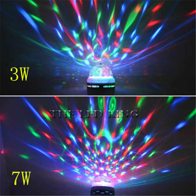 SONQIN מיני Led RGB שלב האור E27 AC 85-265 V כדור בדולח קסם מנורת 3 W 7 W לייזר