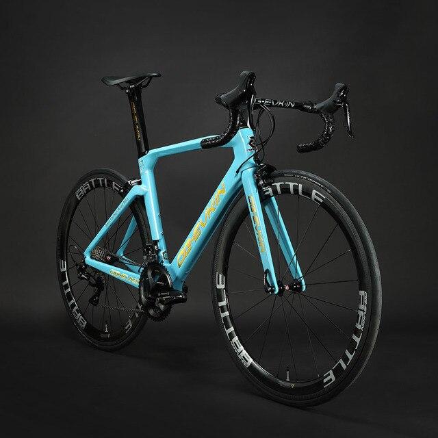 2019 Новый T1000 углеродный шоссейный велосипед кадр UD Глянцевая BB386 Di2 механические карбоновый шоссейный велосипед 48 50 52 54 см черный OG-EVKIN