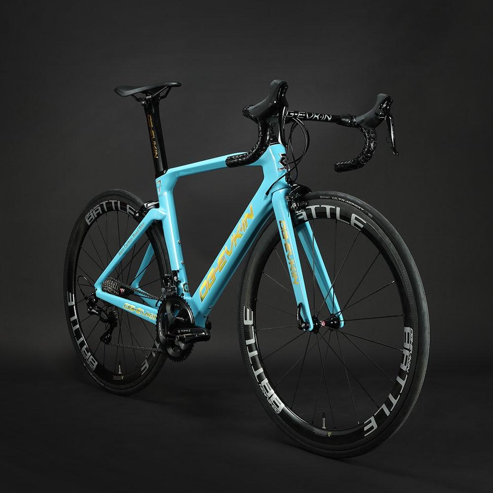 2019 nuevo marco de bicicleta de carretera de carbono T1000 UD brillante BB386 Di2 mecánico Frameset bicicleta de carretera de carbono 48 50 52 54 cm negro OG-EVKIN
