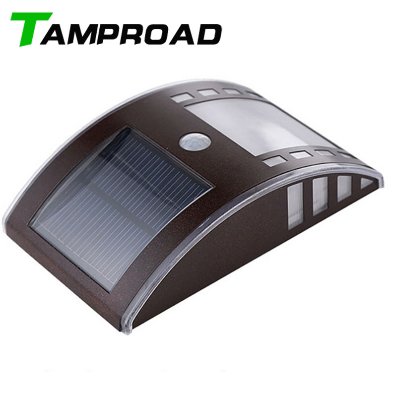 Us 16 79 44 Off Tamproad Led Solar Wall Lamp Motion Sensor Lights Outdoor Lighting Stainless Steel Light Exterior In