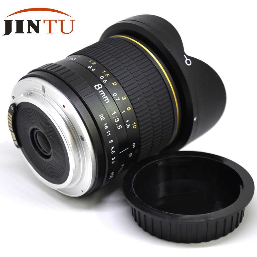JINTU 8MM MARK II F/3.5 Super Wide Angel Lens สำหรับกล้อง Canon EOS EF 80D 77D 70D 7D 6D T7i T7s T6i T6 T5i T5-ใน เลนส์กล้อง จาก อุปกรณ์อิเล็กทรอนิกส์ บน AliExpress - 11.11_สิบเอ็ด สิบเอ็ดวันคนโสด 1