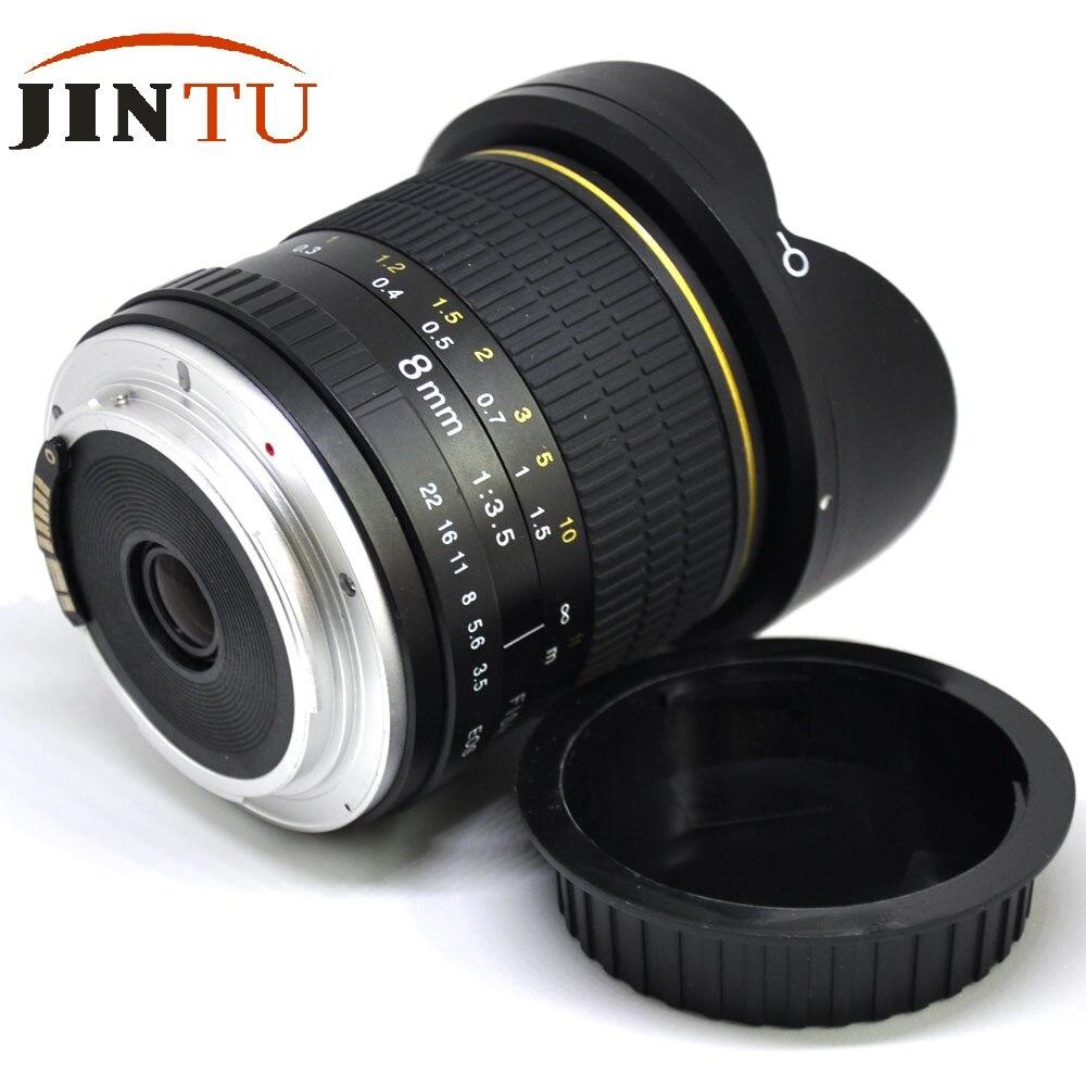 JINTU MARK II objectif de caméra Fisheye Super large 8mm II F/3.5 pour Canon EOS 450D 550D 650D 750D 60D 70D