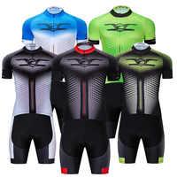 Crossrider 2019 divertida camiseta de Ciclismo 9D Set Ropa de bicicleta de MTB Ropa de Ciclismo Ropa para hombre corto Maillot traje culotte