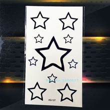 1PC PENTANGLE Waterproof Temporary Tattoo Stickers Children Women PAQ-127 Kids School Tattoo Paste Fake Star Tatoo Tatouage Taty