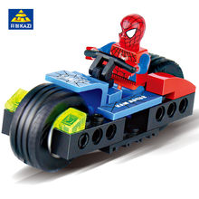 KAZI 6006 Super Heroes Spiderman Storm LegoINGs DIY Building Blocks Sets Figures Brinquedos Bricks Educational Toys For Children(China)