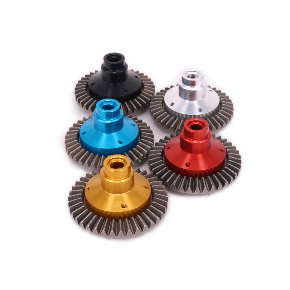 1Set Steel 38T Main Gear And 13T Bevel Gear For Rc Hobby Model Car 1/10 Axial Scx10 Crawler 90022 90035 SCX0031 Hopup Parts hsp 02024 differential diff gear complete 38t for 1 10 rc model car spare parts fit buggy monster