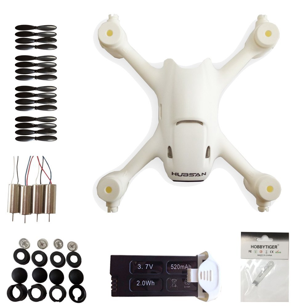 <font><b>Hubsan</b></font> <font><b>H107C</b></font>+ Plus RC Quadcopter Replace Spare Parts Crash Pack Kit <font><b>Battery</b></font> Motor Prop Body Shell image