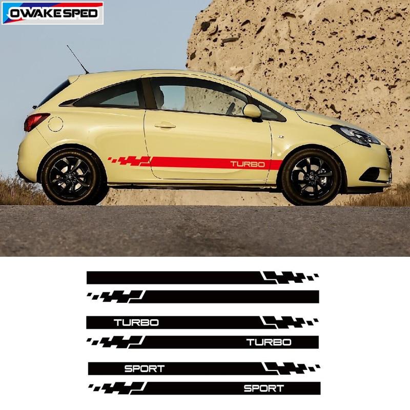5x VAUXHALL CORSA LOGO CAR DOOR SILLS VINYL DECALS STICKERS ADHESIVE