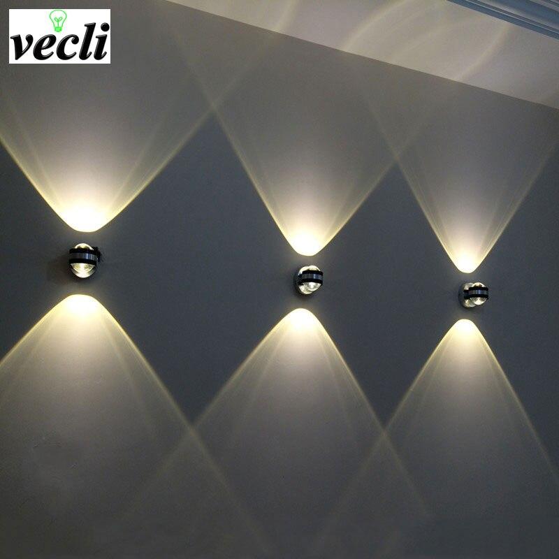 Вверх вниз настенный светильник LED современный Крытый отель украшения свет Гостиная прикроватная тумбочка для спальни ТВ фоновое изображение лампы проходу бюстгальтер