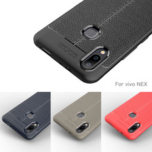 Vivo NEX S Case Soft Bumper Carbon Fiber Silicone Cover For Back Coque Fundas