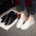 Spring Height Increasd Women Loafers 100% Leather Shoes Woman Slip on Ladies Flats Platform Shoes White Shoes Zapatos Mujer