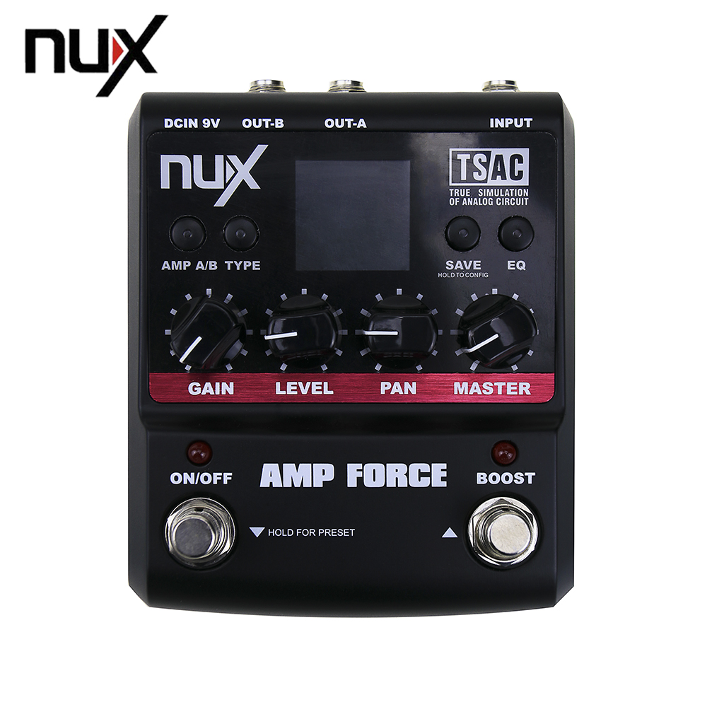 nux amp force modeling amplifier simulator electric guitar effect pedal 12 models distortion. Black Bedroom Furniture Sets. Home Design Ideas
