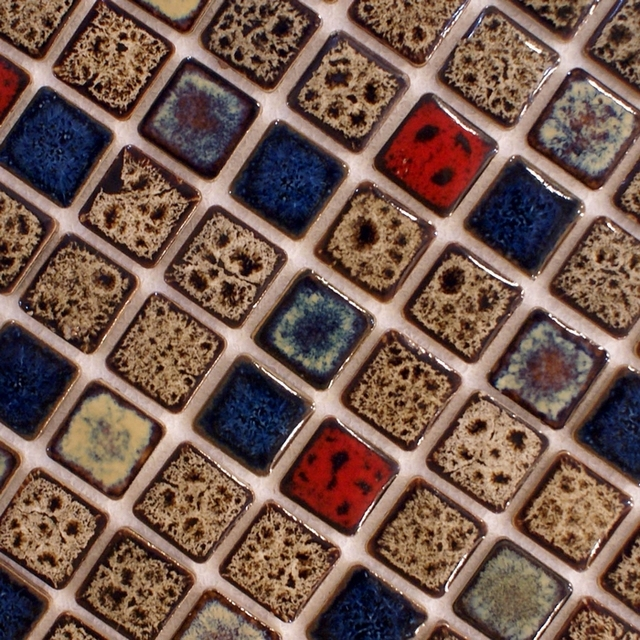 vintage style mixed colors brown Ceramic porcelain mosaic tile ...