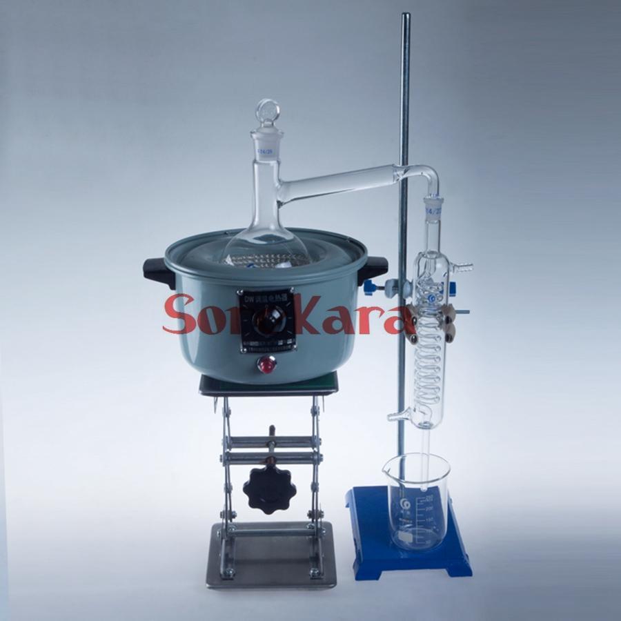 500ml Essential Oil Steam Distilling Apparatus Distillation Kit Tools Lab Use 1000ml essential oil steam distilling apparatus distillation kit tools lab use