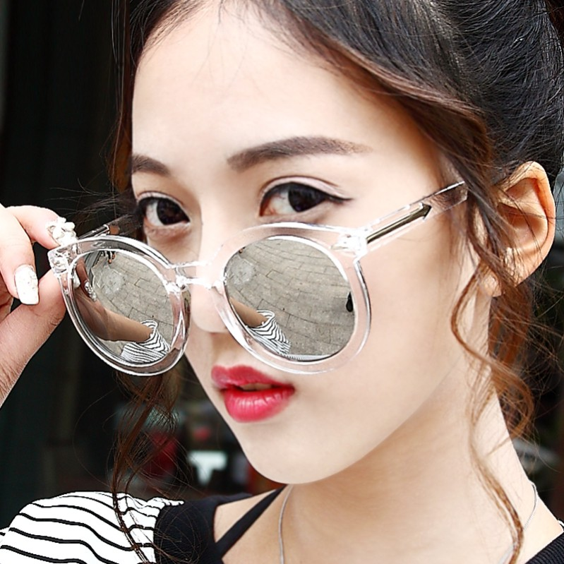 Pleasing Aliexpress Com Buy Brand Designer Reflective Transparent Round Short Hairstyles Gunalazisus