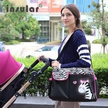 Insular Zèbre Et Girafe Bébé Sacs à Couches Pour Maman Bébé Voyage Sacs À Main Poussette Sacs Pour De Maternité Bolsa Maternidade