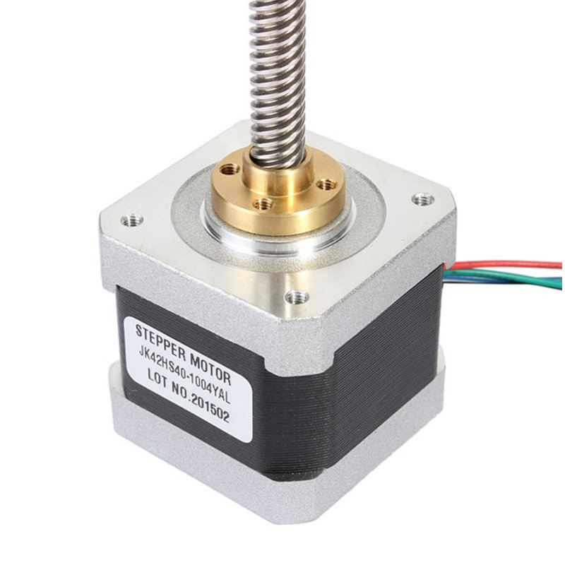 NEMA17 Two Phase 42mm Linear Hybrid Stepper Motor 1.8Degree 1.0A 40mm Length For CNC Router Promotion nema17 1 8 degree 42mm 2 phase stepper motor fit adapter drive jk0220 for 3d printer cnc jk42hs40 1704