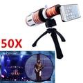 Apexel 50X Zoom Telescope camera Lens com tripé e caixa de alumínio para iphone 5S / 5 câmera de Zoom CL-48