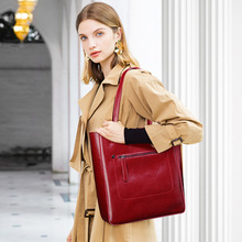 Luxury Women's Shoulder Bags Large Designer Female Bag Black Genuine Leather Ladies Handbags 2019 Summer Soft Woman Tote Bags недорого