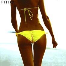 cb6708eace1c3 FITTOO 8 Color Sexy Woman Brazilian Bikini Bottoms Swimwear Swim Shorts  Swimsuit