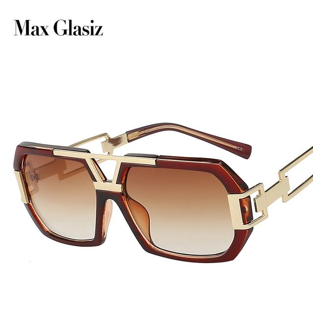 2d57e68de جديد 2018 مربع الرجال الأزياء ظلال نظارات شمسية كبيرة الإطار ل نظارات رجالي العلامة  التجارية مصمم