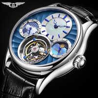 GUANQIN 2019 véritable Tourbillon mécanique main vent hommes montres haut de gamme de luxe squelette horloge hommes saphir Relogio Masculino