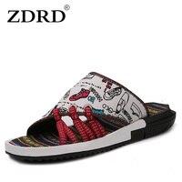 ZDRD Hot New Fashion Men của designer Bãi Biển ngụy trang Dép Chất Lượng Cao dép Nam Mùa Hè Thoáng Khí nam rcroc giày trượt