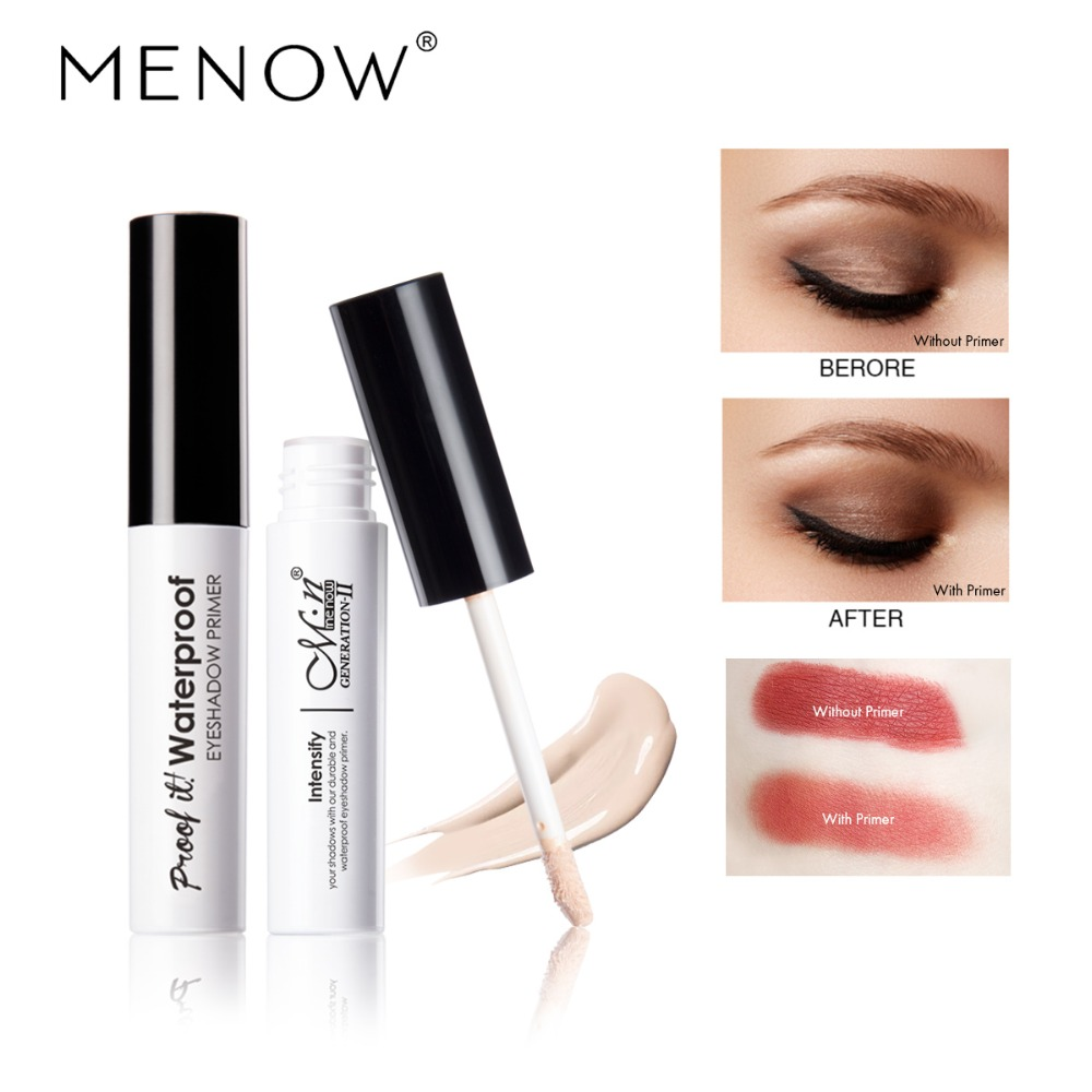 MENOW 1Pc Eyeshadow Primer Eyes Make up Base Waterproof Eye shadow Base Cream Cosmetics Primer maquiagem 2018 New Makeup Primer image