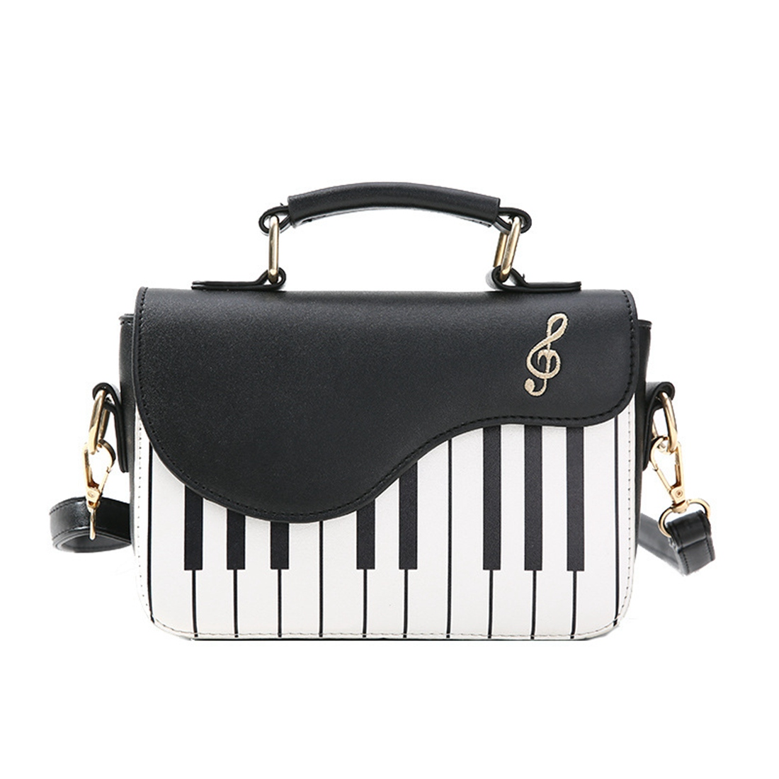 цена на BEAU-new fashion hit color piano printing handbag sweet wind fresh shoulder diagonal portable small package