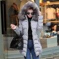 2016 de Las Mujeres de piel de invierno chaqueta de las mujeres chaqueta de invierno abajo cubren a la hembra Abajo chaquetas engrosamiento Caliente, con capucha