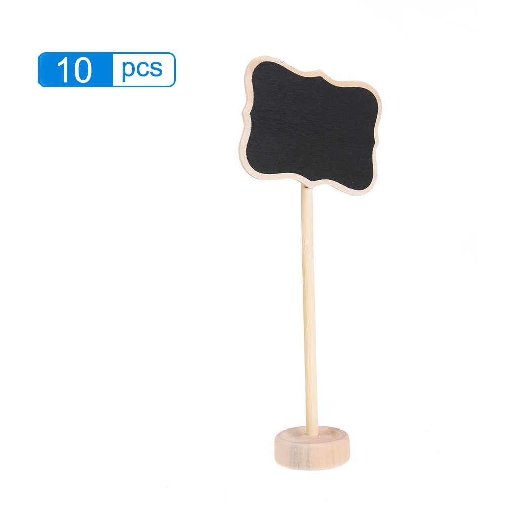 10pcs Mini Chalkboards Decoration Borders Children Black Board Black Board with Stand for Message Board Party Direction Signs